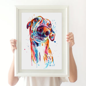 Greyhound - Watercolor Print - Shaunna Russell
