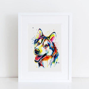 Husky - Watercolor Print - Shaunna Russell