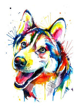 Load image into Gallery viewer, Husky - Watercolor Print - Shaunna Russell