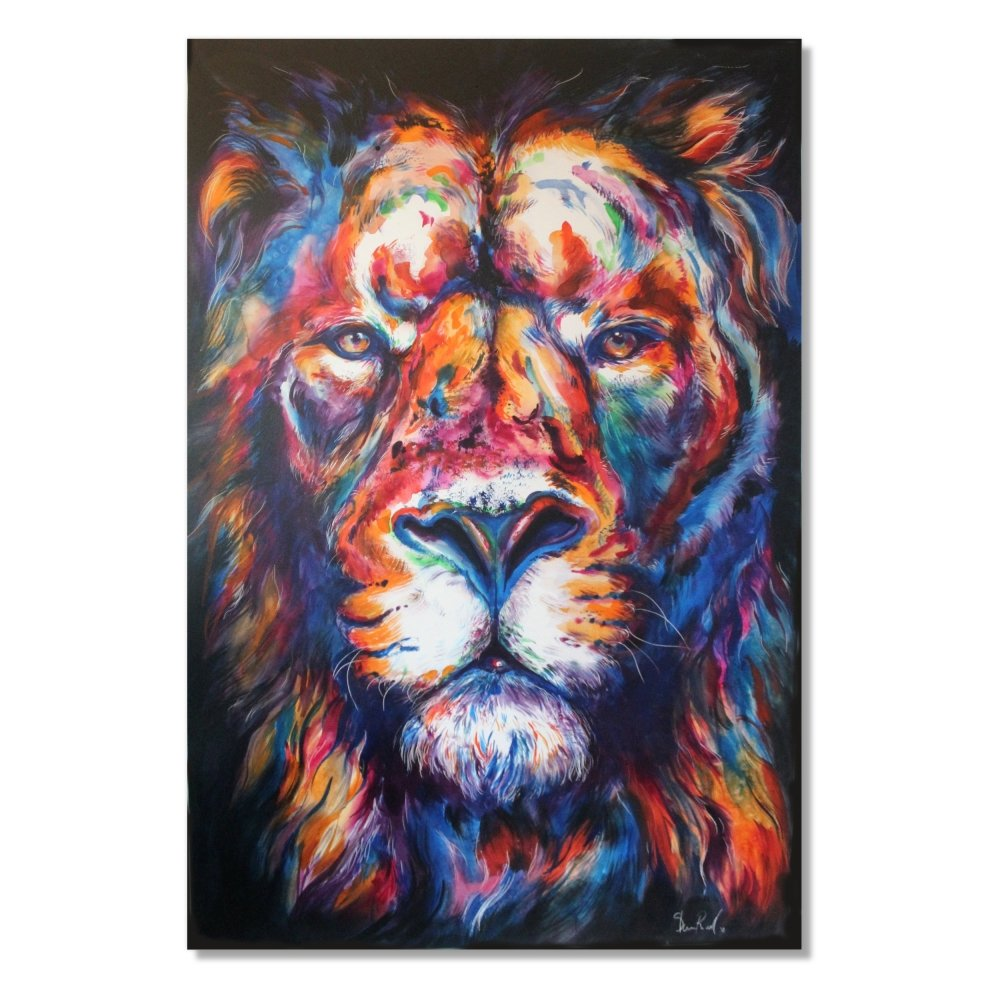 King - Original Lion Painting - Shaunna Russell