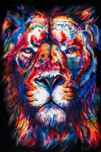 Lion - Watercolor Print - Shaunna Russell