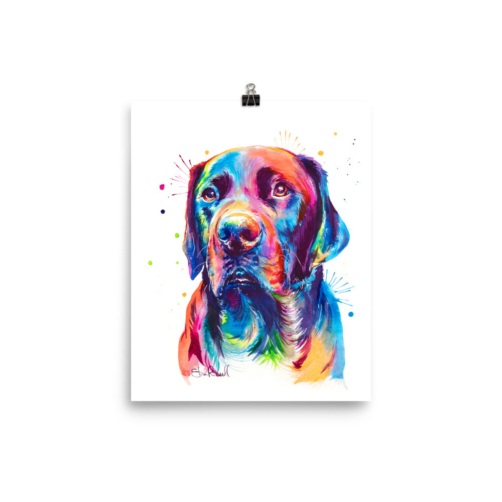 Black Lab - Watercolor Print