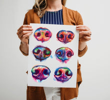 Load image into Gallery viewer, Nose Boop - Watercolor Print - Shaunna Russell