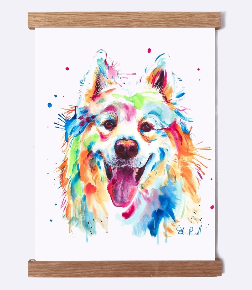 Samoyed - Watercolor Print - Shaunna Russell