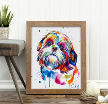 Load image into Gallery viewer, Shih Tzu - Watercolor Print