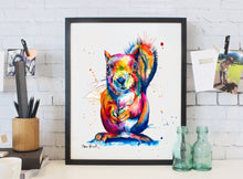 Load image into Gallery viewer, Squirrel - Watercolor Print - Shaunna Russell