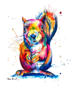 Squirrel - Watercolor Print - Shaunna Russell