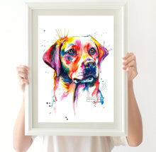 Load image into Gallery viewer, Yellow Lab #2 - Watercolor Print - Shaunna Russell