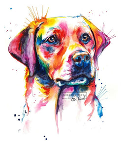 Yellow Lab #2 - Watercolor Print - Shaunna Russell