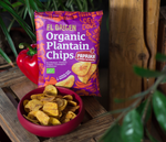 Organic plantain chips with paprika
