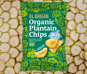 Organic plantain chips with sea salt
