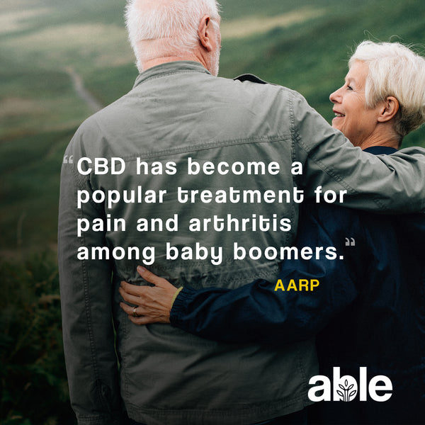 THE AARP REPORTS THAT CBD IS A POPULAR TREATMENT FOR PAIN & ARTHRITIS AMONG BOOMERS