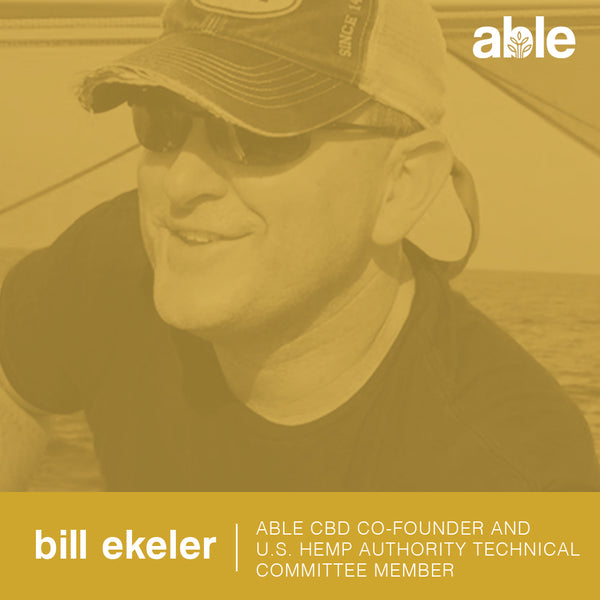 ABLE CBD CO-FOUNDER, BILL EKELER JOINS U.S. HEMP AUTHORITY TECHNICAL COMMITTEE