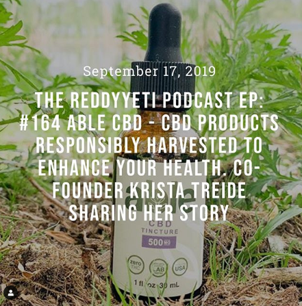 ABLE CBD Founders Podcast on Reddy Yeti