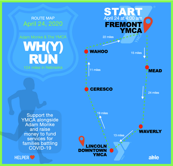 WH(Y) RUN MAP AND COVID-19 FUNDRAISER