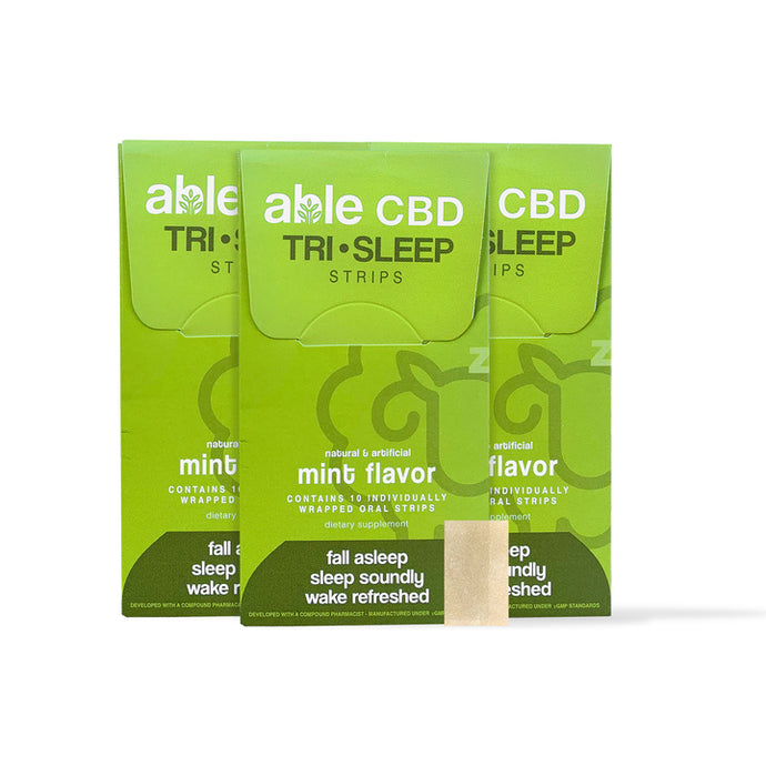 ABLE CBD SLEEP STRIP REVIEW BY REDDY YETI - Feeling energized