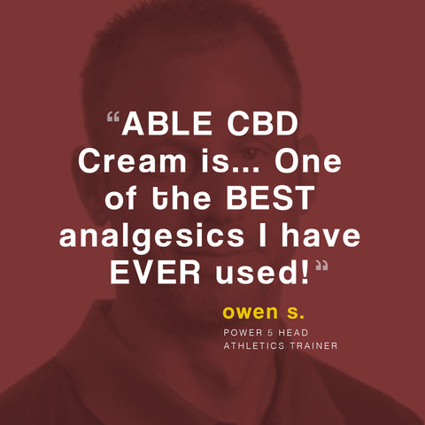 ABLE CBD Cream is one of the best analgesics I have ever used.