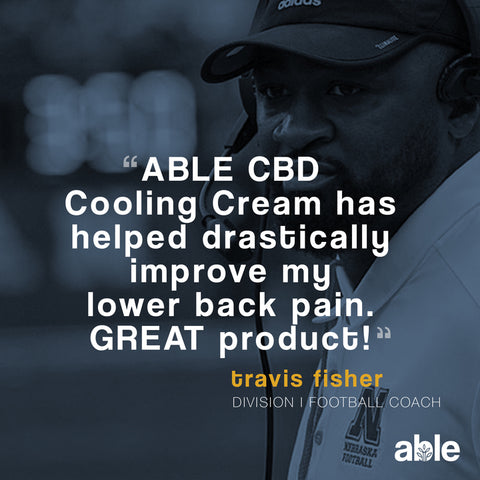 ABLE CBD cooling cream has helped alleviate my back pain