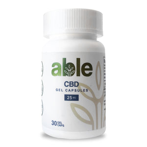 ABLE CBD GEL CAPSULES 25mg