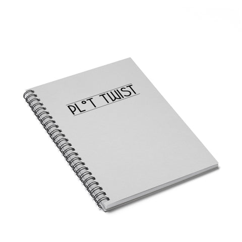 """Plot Twist"" Spiral Notebook - Ruled Line"