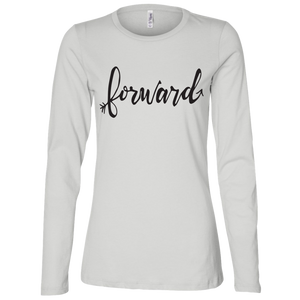 """Forward"" Bella + Canvas Ladies' Jersey LS Missy Fit"