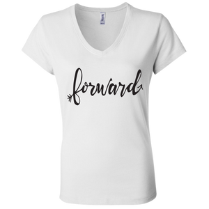 """Forward"" Bella + Canvas Ladies' Jersey V-Neck T-Shirt"