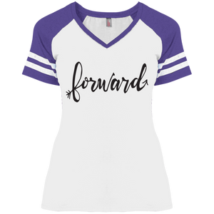 """Forward""District Ladies' Game V-Neck T-Shirt"