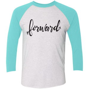 """Forward""Next Level Tri-Blend 3/4 Sleeve Baseball Raglan T-Shirt"