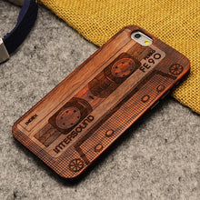 old fashion tape wood phone case