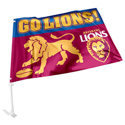 Brisbane Lions Car Flag