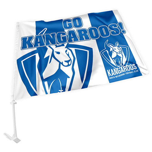 North Melbourne Kangaroos Car Flag