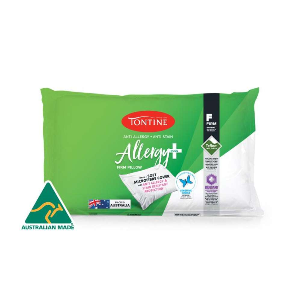 Tontine Allergy Plus & Anti-Stain High & Firm Pillow