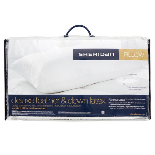Sheridan Deluxe Feather & Down Latex Pillow
