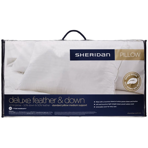 Sheridan Deluxe Feather & Down Pillow