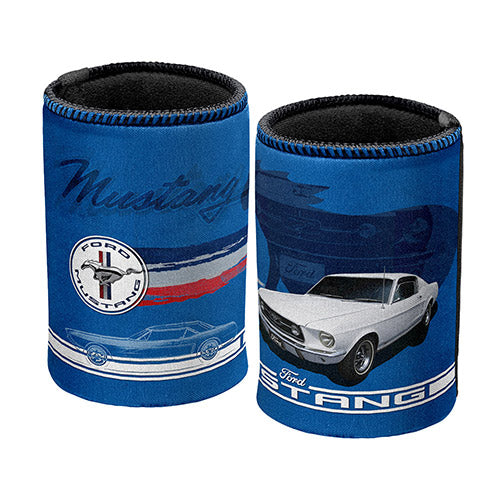 Ford Mustang Blue Can Cooler