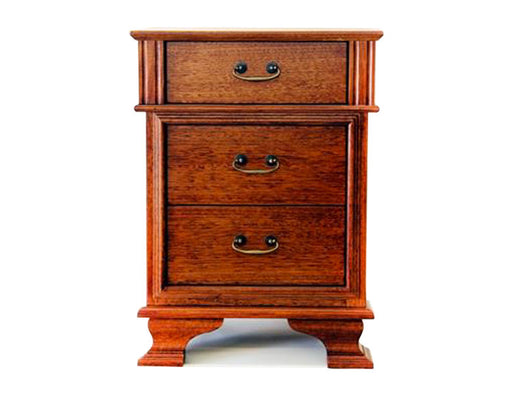 Fletcher 3 Drawer Bedside Table by Flamingo