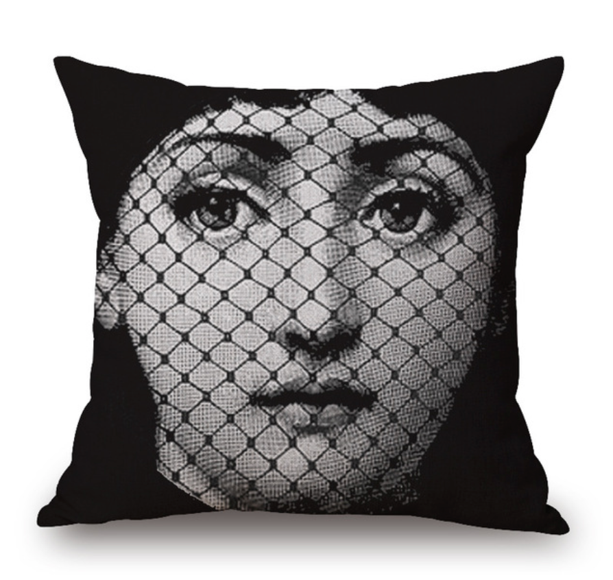 Black and White Eyes On You Cushion II