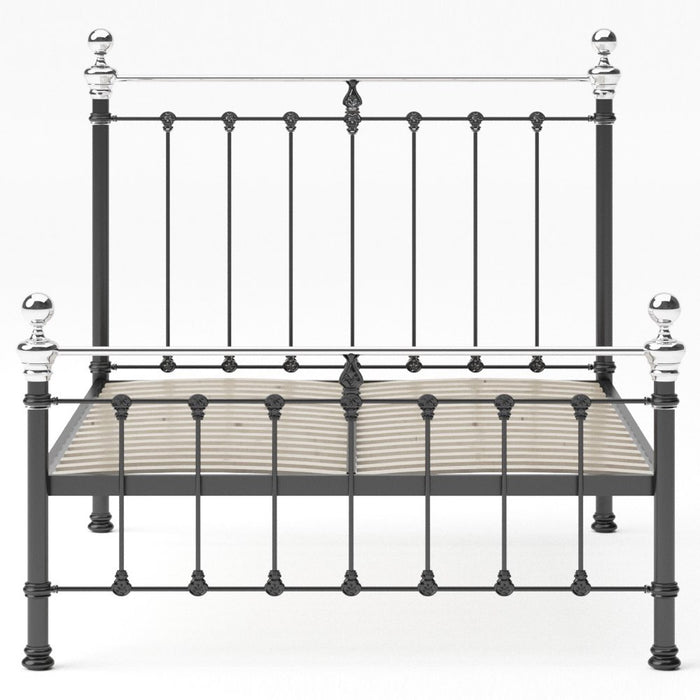 Hobart Cast Bed - Low Foot With Chrome