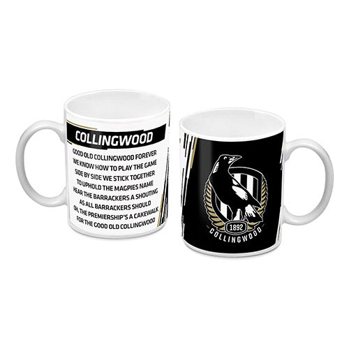 Collingwood Magpies Logo and Song Mug