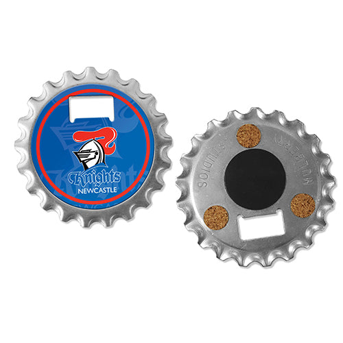 Newcastle Knights Coaster Magnet Bottle Opener