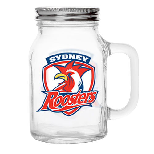 Sydney Roosters Glass Jar