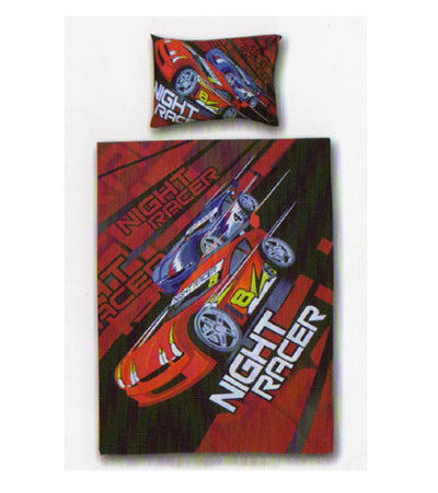 Kids Night Racer Quilt Cover Set