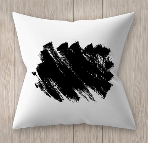 Black and White Scribbly Cushion