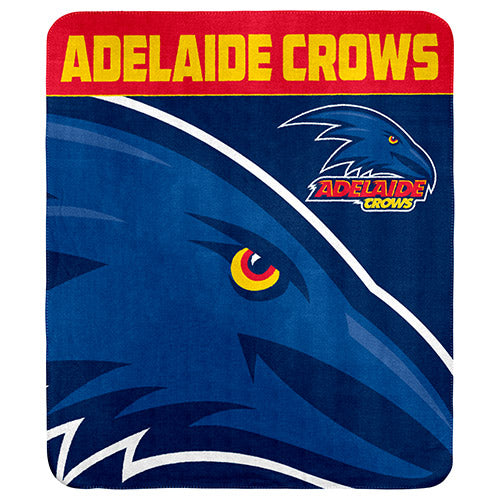 Adelaide Crows Polar Fleece Throw