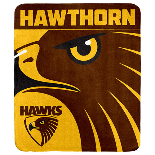 Hawthorn Hawks Polar Fleece Throw