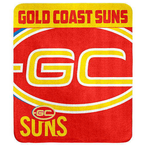 Gold Coast Suns Polar Fleece Throw