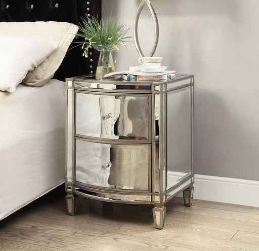 Rochelle Mirror 2 Drawer Bedside Table