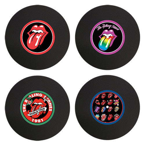 The Rolling Stones Vinyl Coaster Set