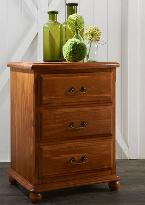 Adelaide 3 Drawer Bedside Table by Flamingo