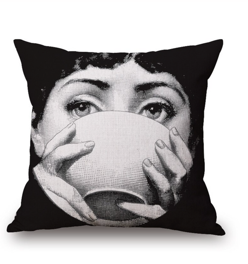 Black and White Eyes On You Cushion III